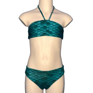 Turquoiqe zeemeermin bikini.