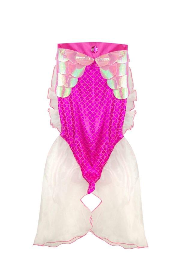 Roos zeemeermin rokje. Met glinsterende schubben. Mooi onderaan afgewerkt met tule.