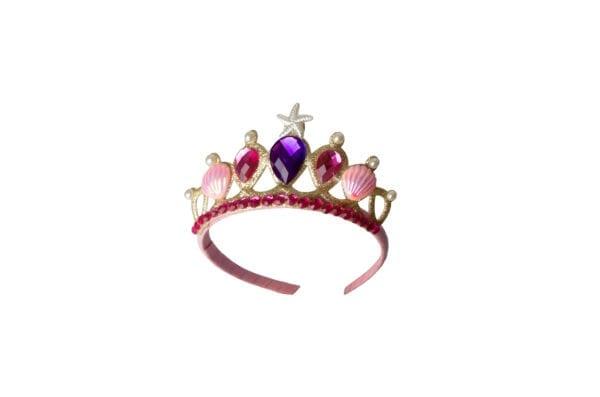 Zeemeermin tiara Mooi afgewerkt met roze en paarse stenen