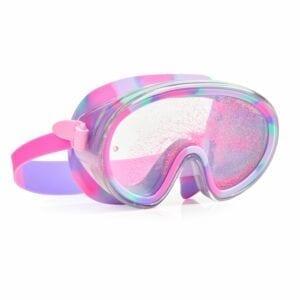 De Sandy toes duikbril revolutioneert het concept van een zwembril met een dubbele lens gevuld met glinsterend zand om je plons nog helderder te maken.