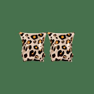 Beige zwembandjes met een tijgerprint