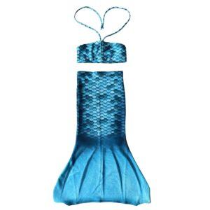turquoise zeemeerminnenstaart voor de allerkleinste. De zeemeerminnenstaart is een rokje.