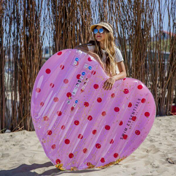 Swim Essentials luchtbed Pink Dots